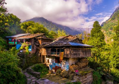 A typical Himalayan house in north India