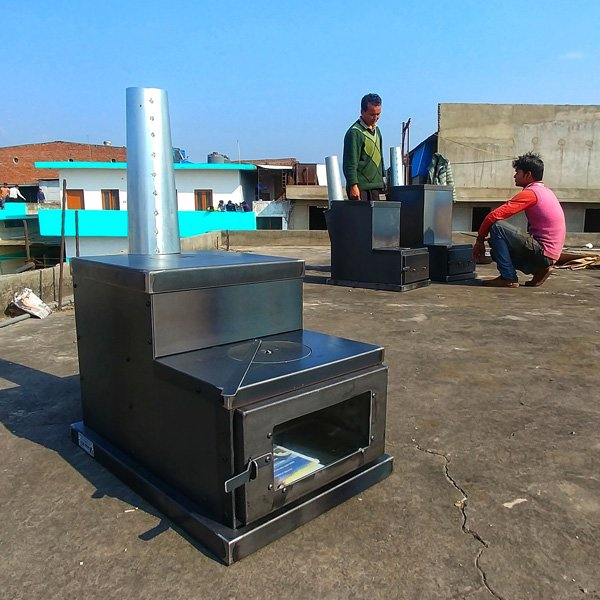 Eco1 stove deluxe himalayan rocket stove for Decorative rocket stove